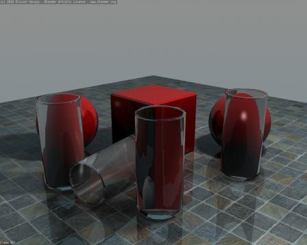 Как сделать прозрачное стекло в blender